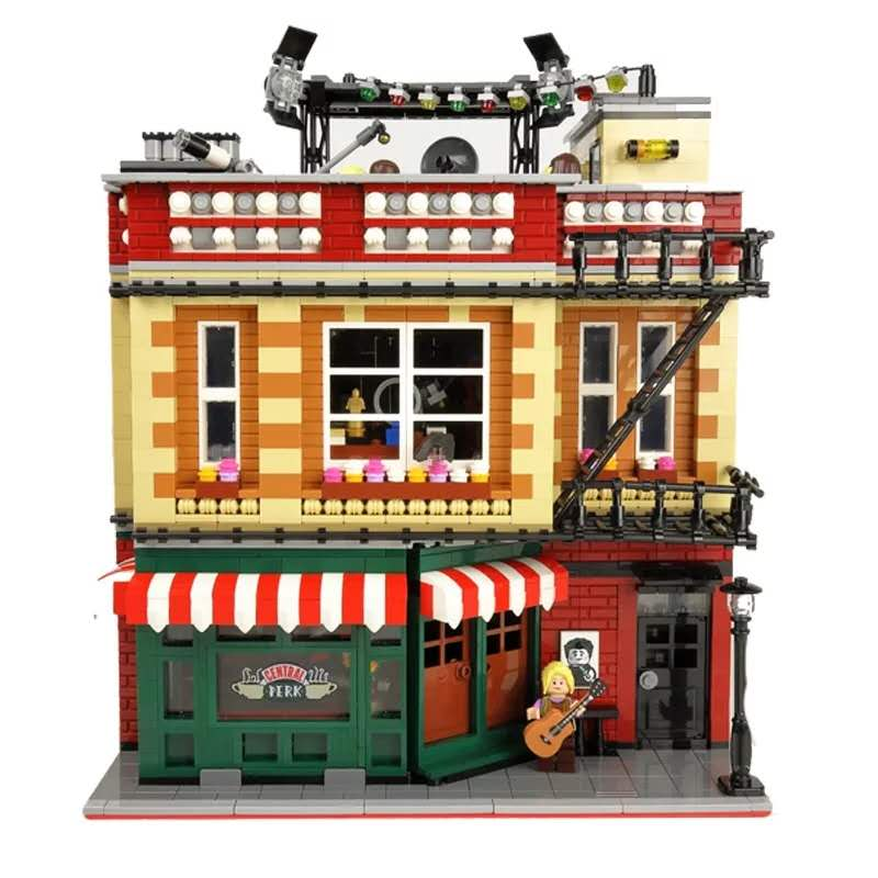 IN stock 4638pcs city street the big <font><b>21319</b></font> bang theory friends classic TV American drama bricks central park cafe shop toys image