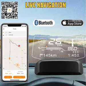 Autool Scanner Speedometer Navigation Car-Hud On-Board computer Projection OBD2 Bluetooth