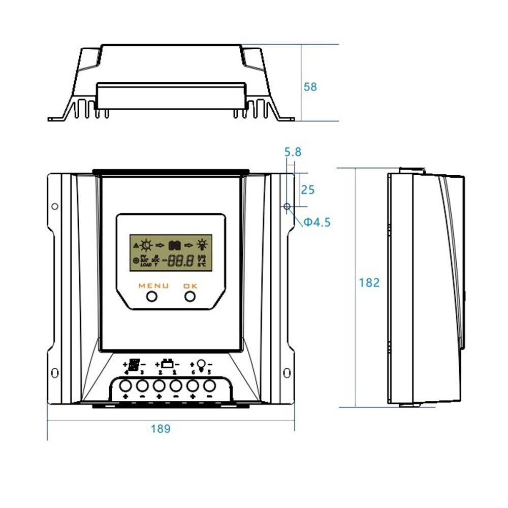 Модуль управления зарядкой, генератор, плата защиты батареи, блок питания, солнечные батареи 30A, электрооборудование
