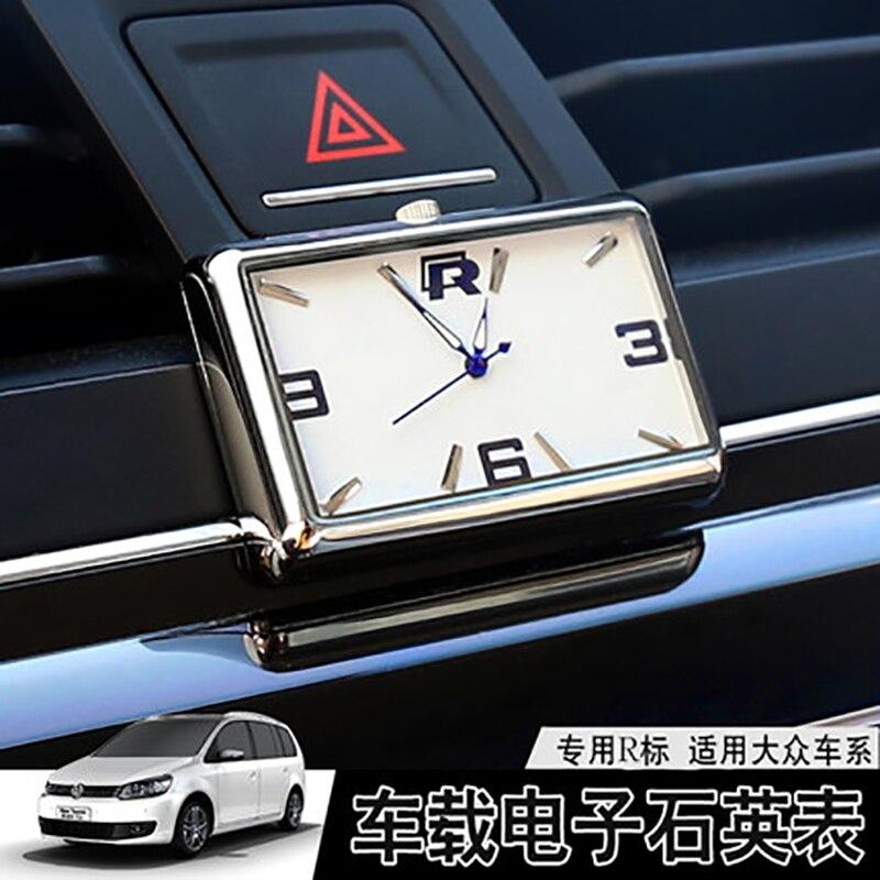car clock car dashboard clock digital car thermometer Automobiles Interior Stick-On Auto Quartz Watch digital clock mini