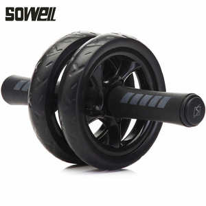 2019 Ab Roller Gym Roller Trainer Training Spier Oefening Apparatuur Thuis Fitnessapparatuur Dubbele Wiel Abdominale Power Wiel(China)