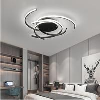 Creative modern led ceiling lights living room bedroom study balcony indoor lighting black white aluminum ceiling lamp fixture