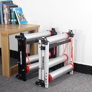 Image 5 - ROCKBROS Bike Roller Trainer Stand Bicycle Exercise Bike Training Indoor Silent Folding Trainer Aluminum Alloy For MTB Road Bike
