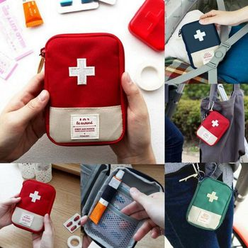 Travel First Aid kit Car First Aid Bag Home Mini Medical Box Emergency Survival image