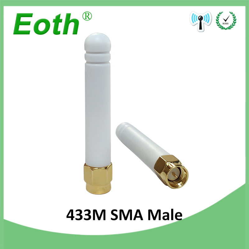 20pcs 433MHz Antenna 2 5dBi SMA Male Connector 433 mhz Small SizeAntena Directiona White Wireless Communication Lorawan Receiver in Antennas for Communications from Cellphones Telecommunications