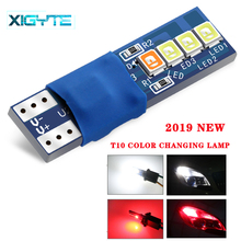 1pcs Canbus W5W T10 194 168 8 smd 2835 Led For Auto Wedge Light Width Lamp Door Parking Bulb License Plate White Blue RGB DC 12V