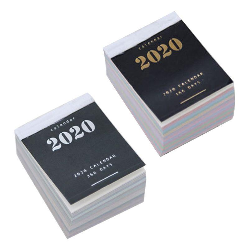 2020 Year Mini Desk Calendar Sticker Daily Planner Book Annual Agenda Organizer U1JA