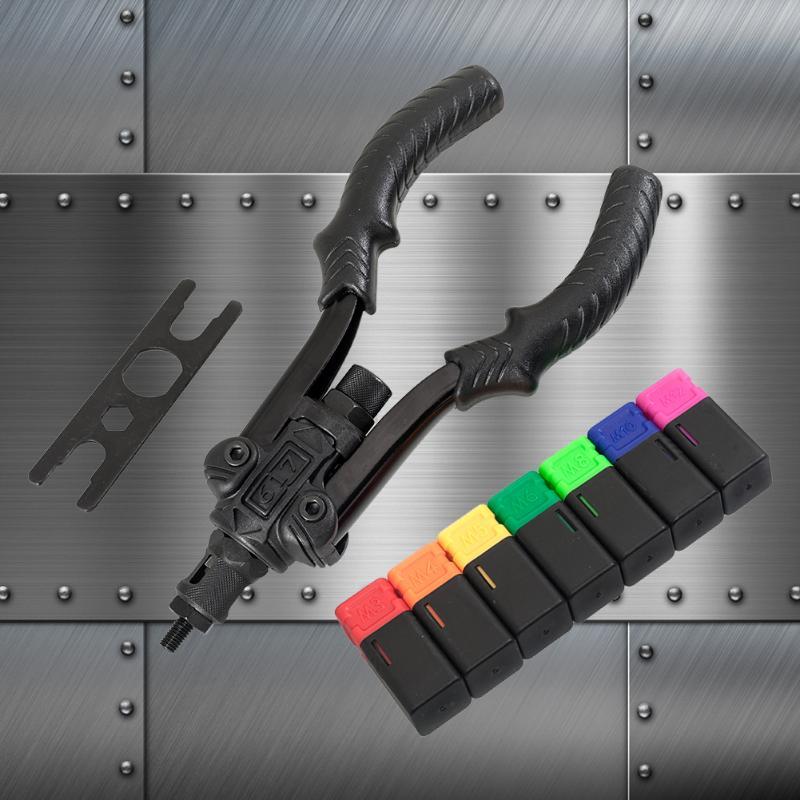 M3-M8 Flat Head Stainless Steel Rivet Nuts Insert Metric Manual Rivet Threaded Nut Rivet Tool Set Hand Tool Supplies
