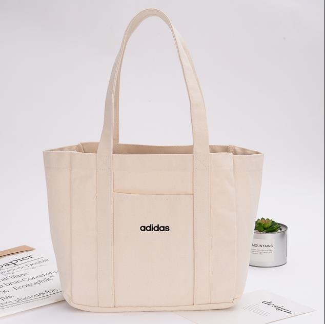 2019 New ECO Canvas Tote White Handbags Tote Bags Reusable Cotton Grocery High Capacity Shopping Bag