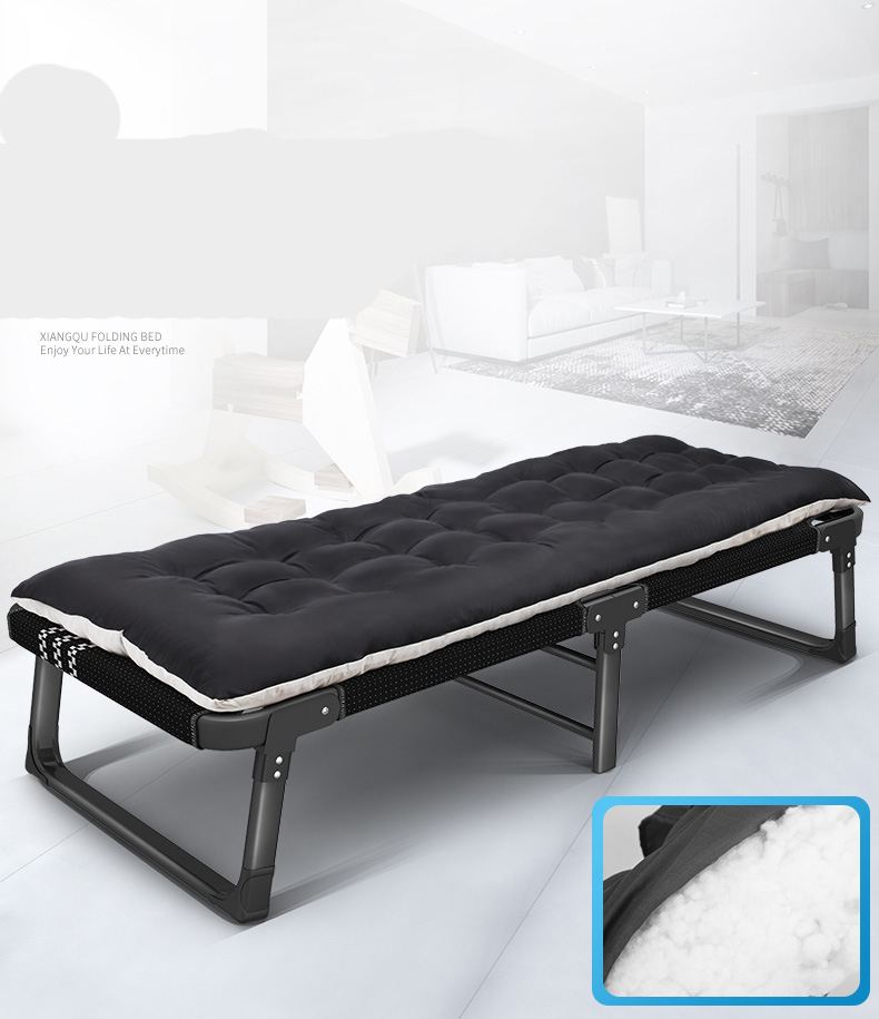 Folding Bed Chair Single Home Economy Lounge Chair Office Simple Bed Lunch Break Nap Artifact Marching Bed