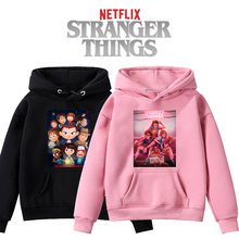 Stranger things hoodie autumn and winter daily wear casual child