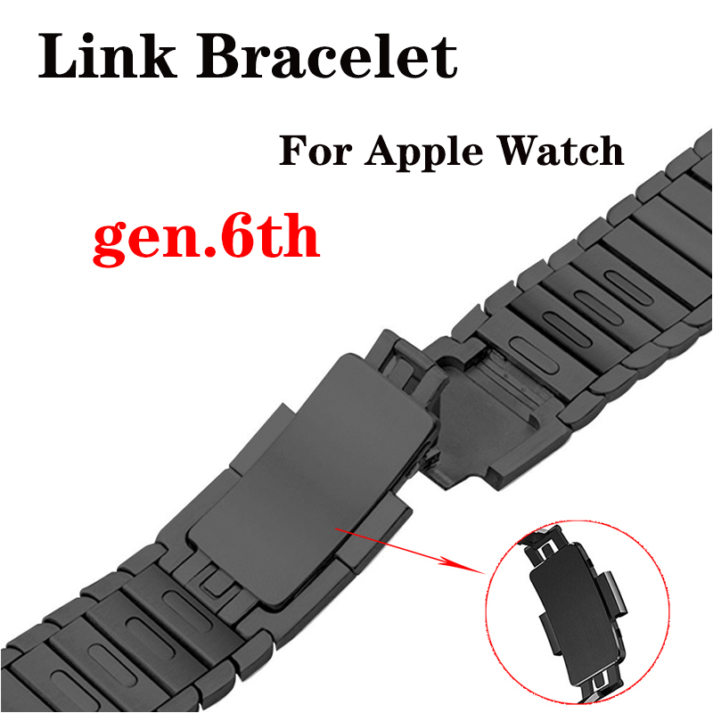 Original Buckle strap for Apple Watch band 4 (iwatch 5) 44mm 40mm applewatch 3 2 1 42mm 38mm 316L stainless steel link gen.6th image