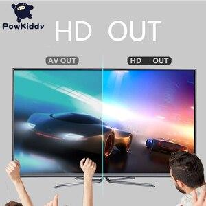 Image 4 - POWKIDDY S3 Console de jeu vidéo USB 8 bits TV sans fil Mini Console de jeu portable construit en 628 classique double manette HDMI/AV sortie