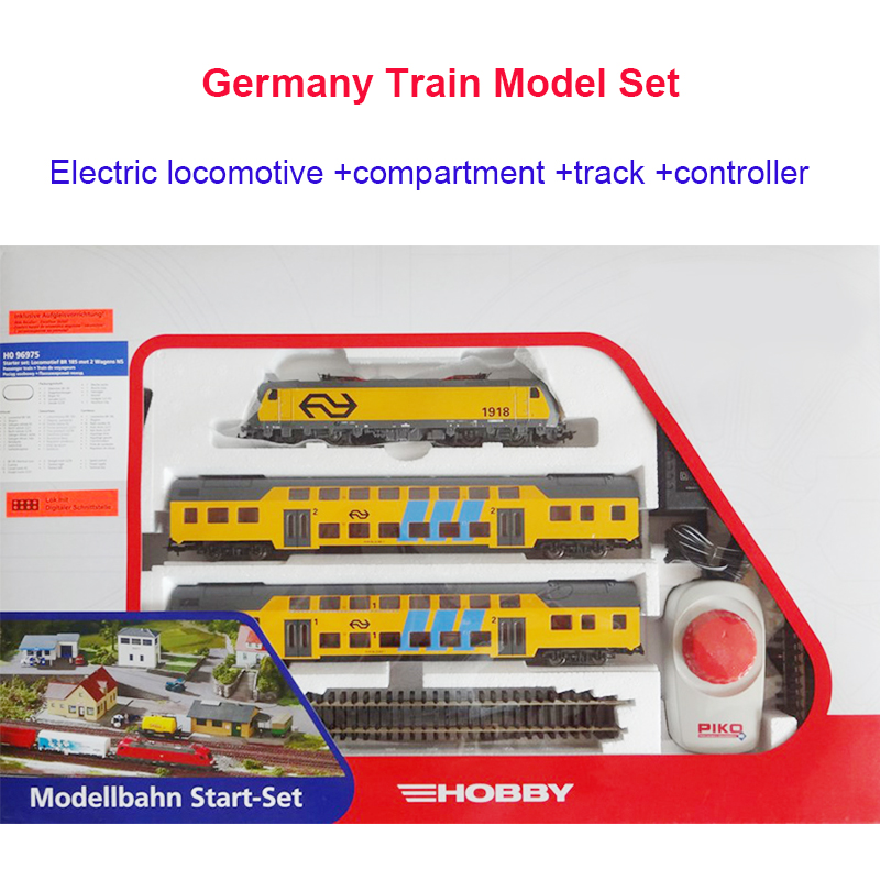 Train Model Junior Set 96975 With Electric Head Car Track Controller Toys For Children