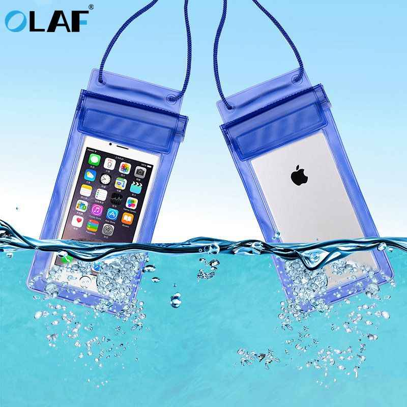 Olaf Universal Tahan Air Case untuk iPhone X XS MAX 8 7 Penutup Tas Kantong Kasus Tritone Tahan Air Ponsel Case untuk Samsung S10 Xiaomi