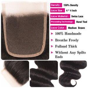 Image 4 - Unice Hair 4x4 PU إغلاق مزود بقاعدة من الحرير البرازيلي شعر مموج إغلاق الدانتيل الطبيعي الأسود ريمي الشعر البشري 10 18 Inch