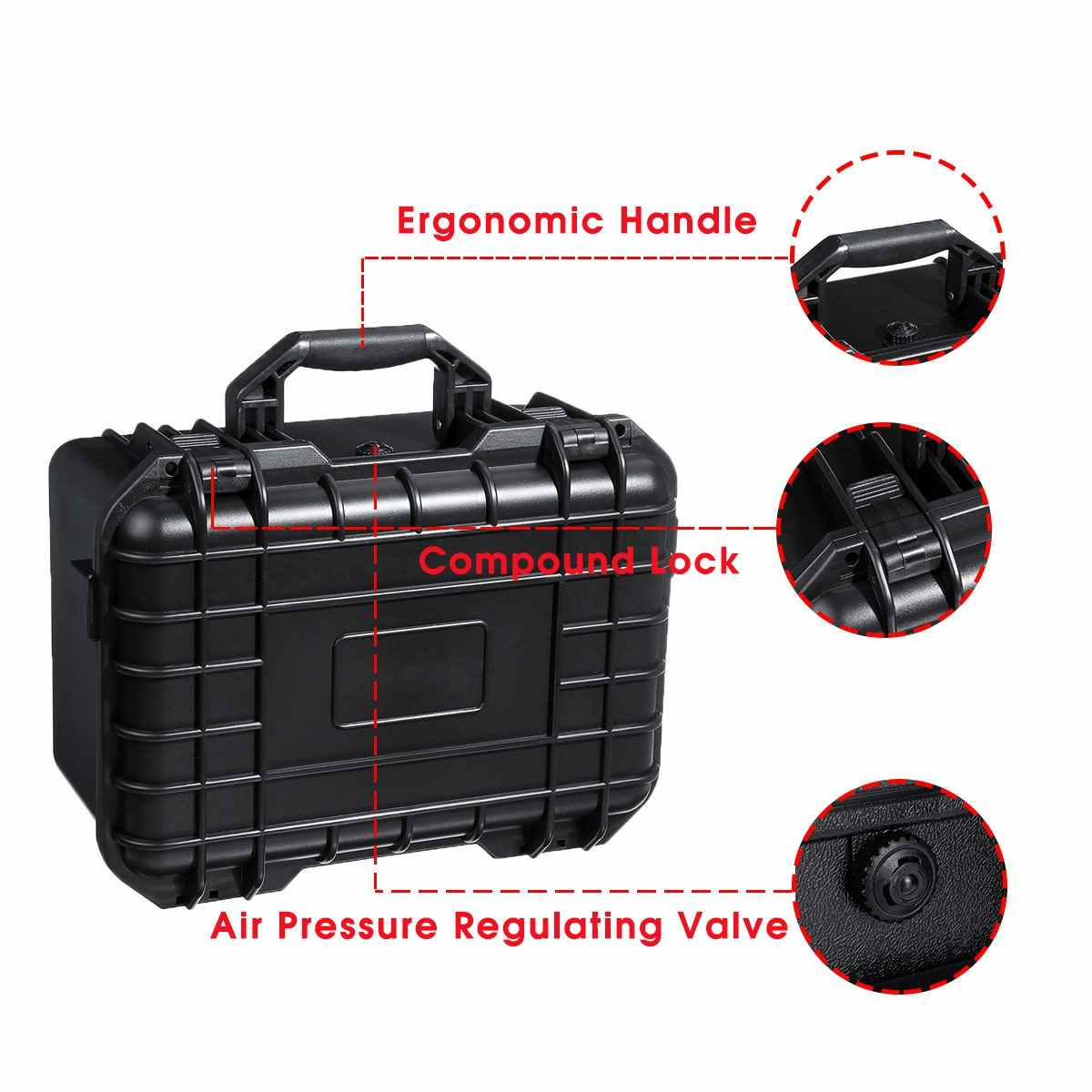 防水安全ツールケースポータブル密封された楽器ツールボックス機器耐衝撃性ツールボックススーツケースコンテナ