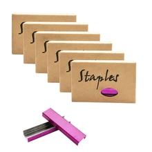 6 Box Rose Red Staples Standard Stapler Refill 26/6 Size 5700 Staples for Office School Stationery Supplies
