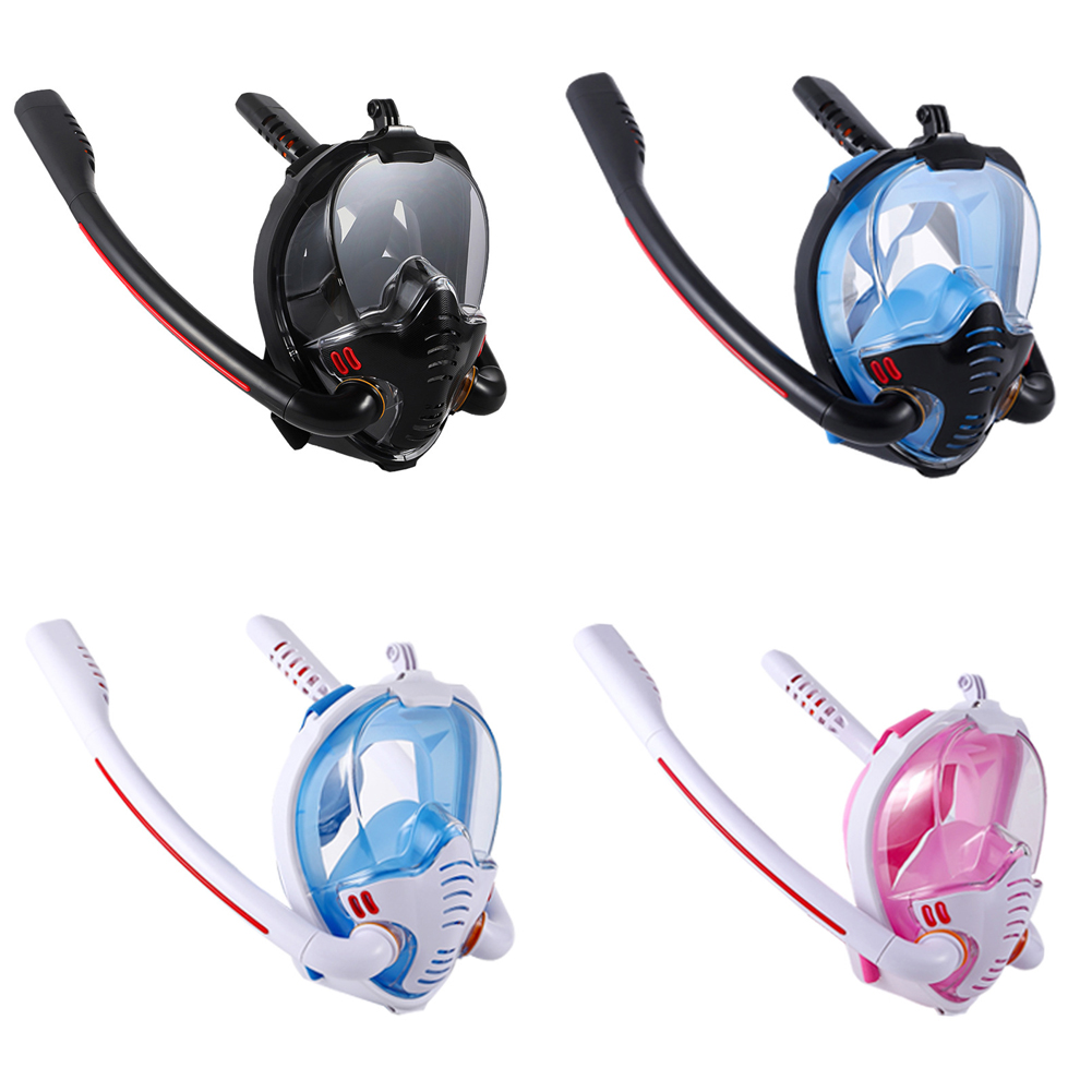 Swimming Mask Snorkel Adult Men Women Swimming Mask Double Breathing Tube Silicone Full Dry Snorkeling Masks Scuba Diving