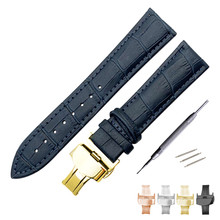 Genuine Leather Watchband for Breitling Omega Mido Replacement Watch Band Butterfly Clasp Strap 12/13/14/16/18/19/20/21/22/24mm zlimsn south america genuine crocodile leather watch band 14 16 17 18 19 20 21 22 23 24mm suitable for omega longines watchband