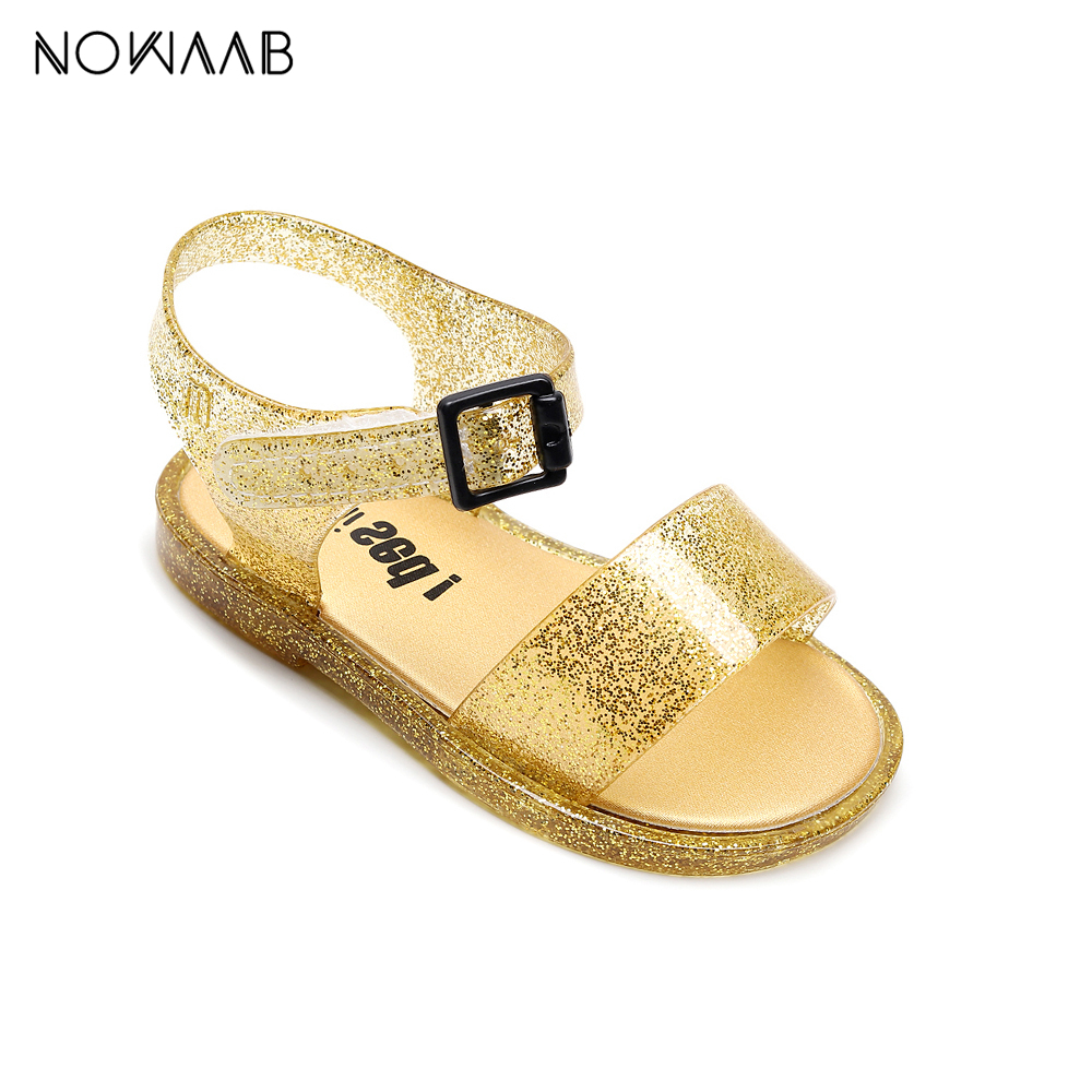Mini Melissa Original Design 2020 Girls Summer Jelly Sandals Shoes Princess Sandal Kids Beach Sandals Non-slip Toddler Sandalias