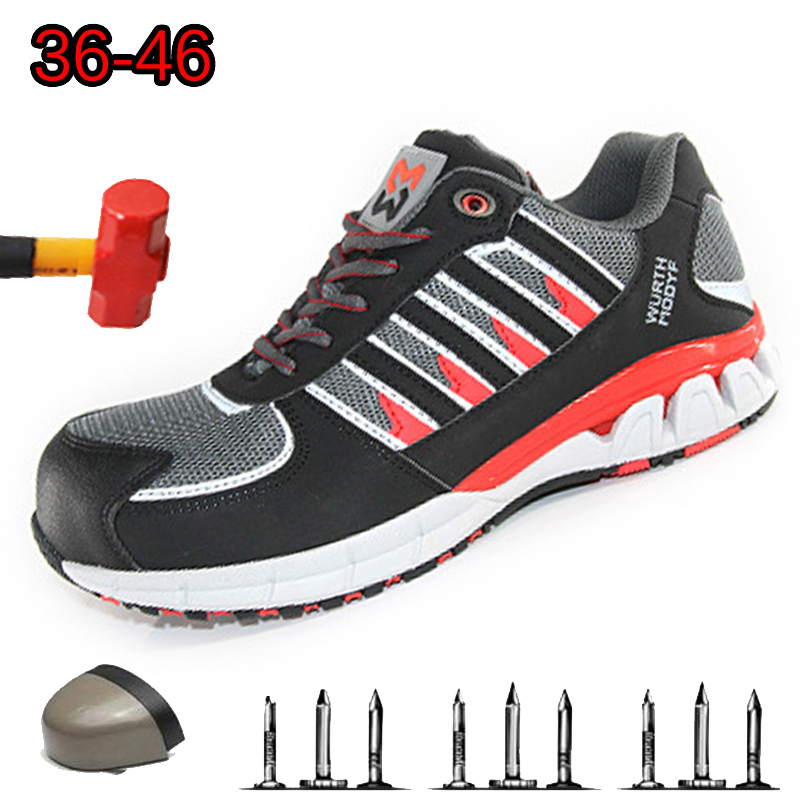 Safety Footwear Steel Toe Puncture Proof Safe Working Camo Spring Breathable Mesh Casual Shoe Men Work Sneakers
