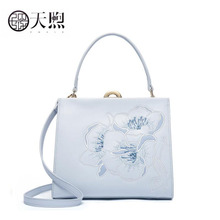 Pmsix New Women Leather handbag quality cowhide embroidery Luxury fashion women bags tote women leather shoulder Crossbody bags 2017 pmsix new chinese style women luxury gold designer backpacks embossed pu leather bags p940004