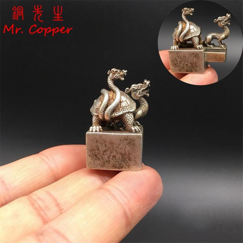 China Pure copper bronze solid Little Turtle statue