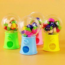 Bonito torcido ovo máquina de frutas forma borracha crianças presentes estudantes criativo dos desenhos animados papelaria