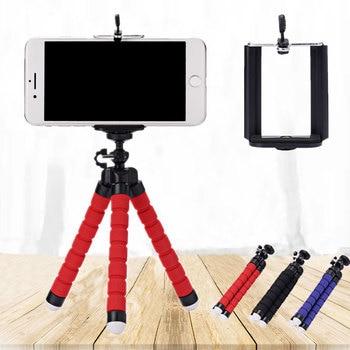 Roreta Portable tripod mini  flexible  sponge octopus tripod suitable for mobile phone iPhone Samsung Gopro 8 7 camera 1