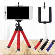 Roreta tripé portátil mini esponja flexível polvo tripé adequado para o telefone móvel iphone samsung gopro 8 7 câmera