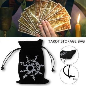 Tarot Card Storage Bag Toy Jewelry Home Mini Drawstring Package Board Game Tarot Storage Bag 13cmx18cm