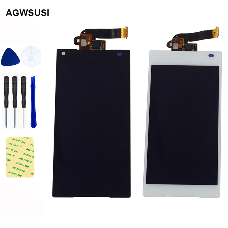 For Sony Xperia Z5 Mini Z5 Compact E5823 E5803 LCD Display Monitor Panel + Touch Screen Digitizer Sensor Glass Assembly