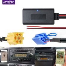 Car Bluetooth 5.0 Module Cable AUX Adapter for Smart Fortwo 450 451 Roadster Grundig Radio CD 6 8 Pins MINI ISO Connector Plug