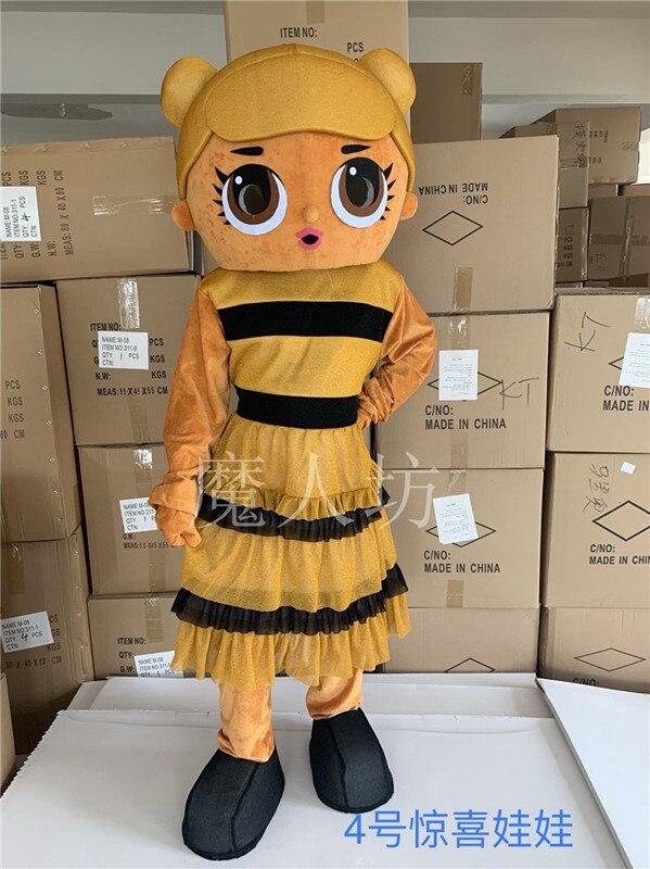 Mode publicité mignon LOL poupée mascotte Costume noël fantaisie fête robe Halloween mascotte Costumes mousse tenue