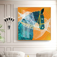 Wall-Art Painting Home-Deco Canvas Hd Poster Living-Room with Blue-Eyes And White Gauze