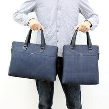 Men's Business Handbags A4 File Leather Crossbody Bags For Men Shoulder Bag Pochette Bolso Hombre For Macbook Office Bag 14 inch