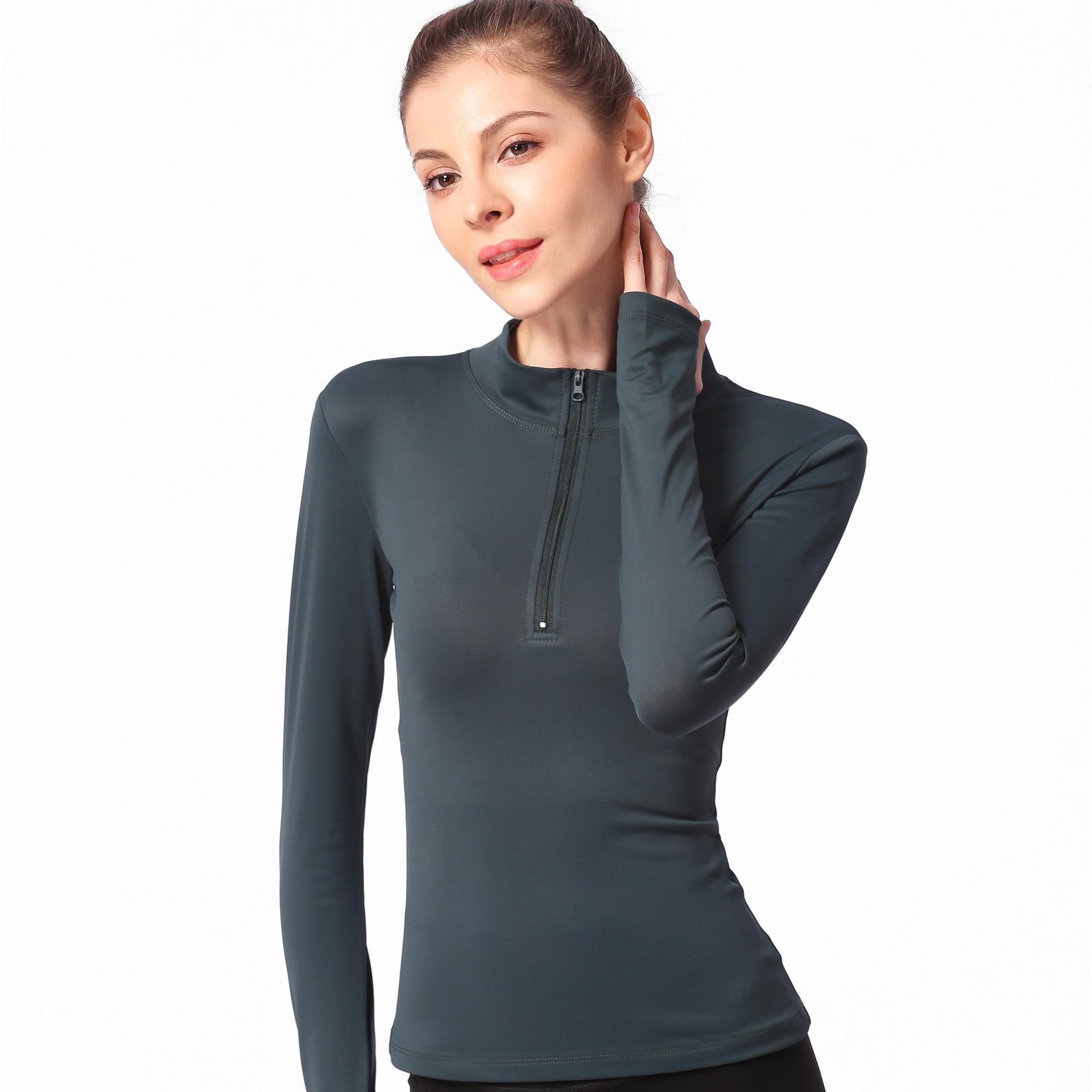 Yoga Shirt Women Long Sleeve Sports T Shirt Fitness Clothing Running Shirts Quick Dry Yoga Shirts Sports Wear for Women in Yoga Shirts from Sports Entertainment