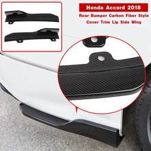 Car Rear Bumper Skirt Spoiler Lip Trims For Honda Accord 2018 Decal Panel(China)