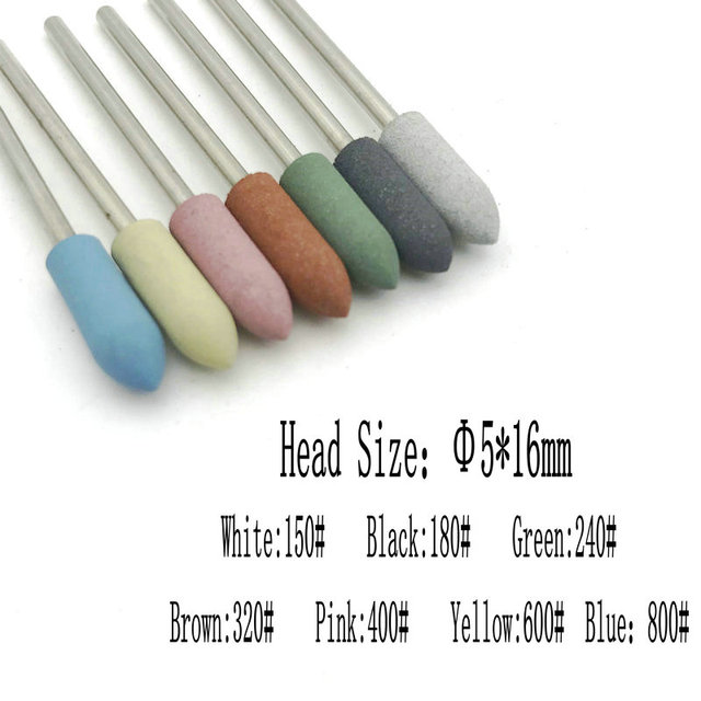 28 Types Rubber Silicone Nail Drill Bit Dental Silicon Rubber Burs Drill Accessories Foot Polishing Tools 5