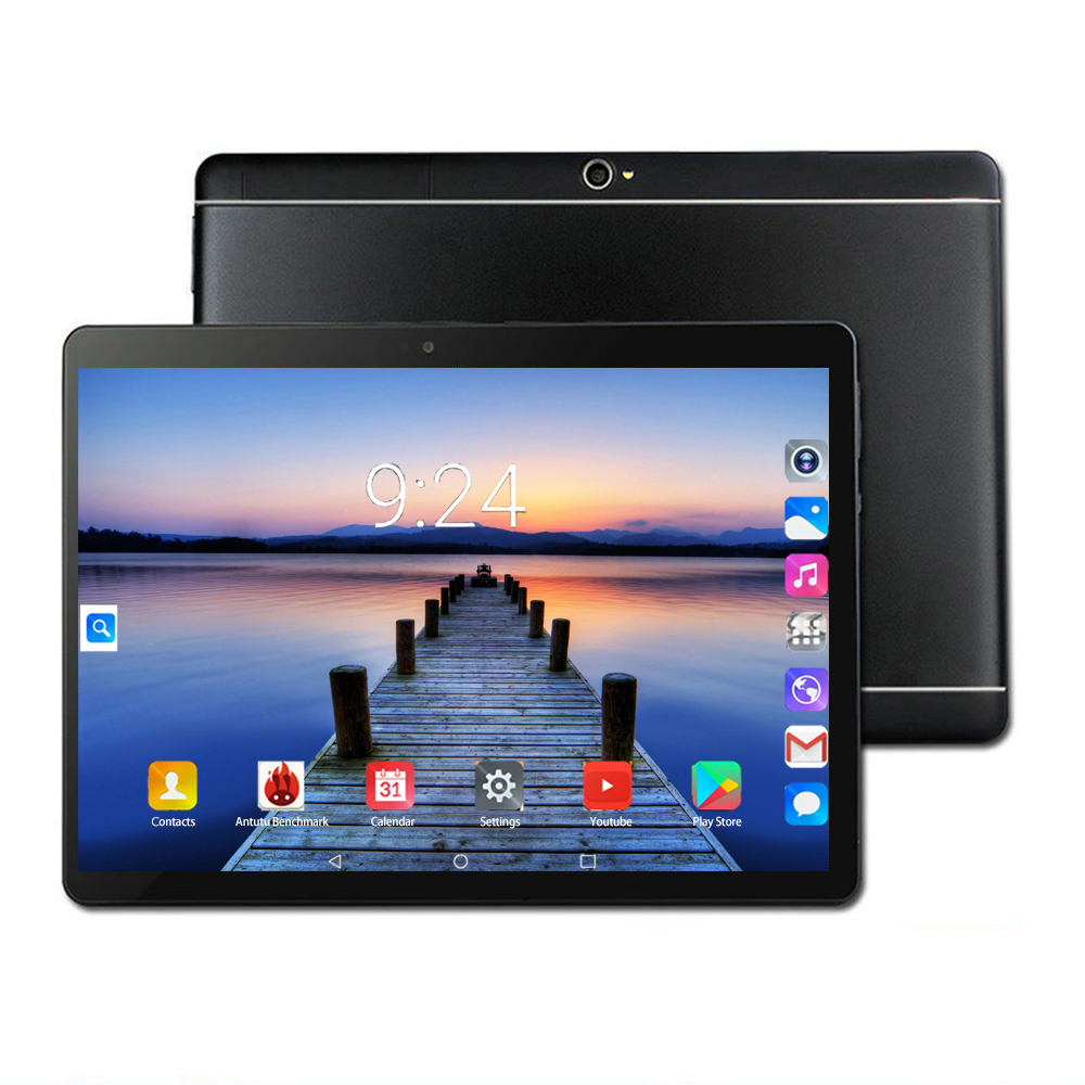 3G 4G LTE IPS Tablets Hd 1920 1280 Octa Core 6GB Ram 128GB ROM Google Android 8.0 10.1Inch Tablet PC 3G WIFI GPS Bluetooth Phone