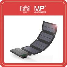 Allpowers 10000mah banco de energia solar à prova dwaterproof água carregador solar bateria externa backup pacote para celular tablets iphone samsung