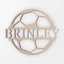Personalized Custom Name Signs Outdoor House Monogram Hanging Front Door Rustic Decor For Birthday Party and Soccer fan Gift