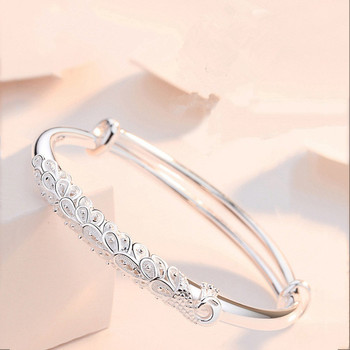 Sterling Silver Peacock Bangle  2
