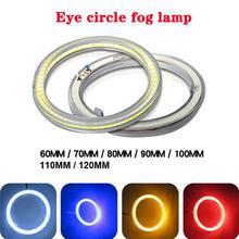 60%  Dropshipping!! 60mm-120mm Car Vehicle Universal COB An gel eyes LED Ring Light Headlight Lamp