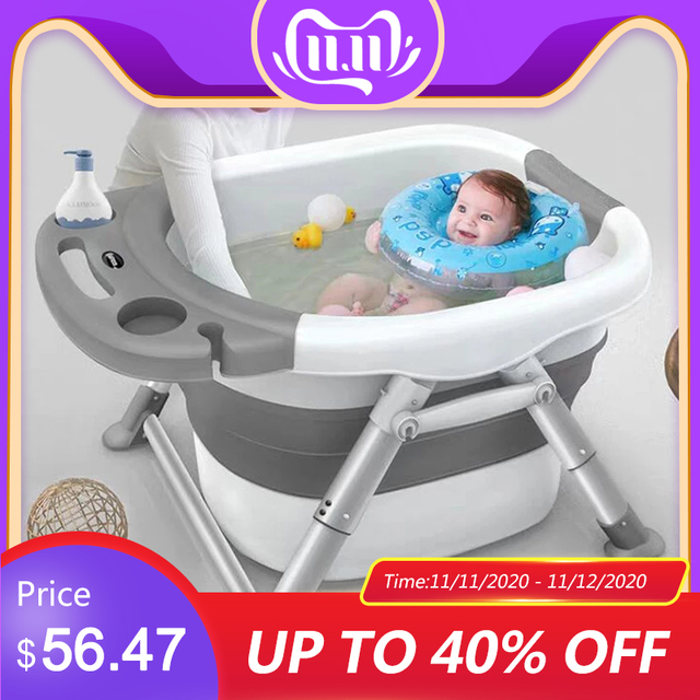 Baby Bathtubs for Infants Childrens Folding Bath Bucket Multifunctional Aluminum Alloy Bathtub Large 0 15 Growth Stage Bathtub