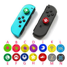 For Nintend Switch NS JoyCon Controllers Joy-Con Joypad Silicone Thumb Stick Grip Caps Zelda Mario Analog Joystick Cover Case(China)