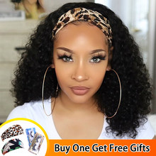 Pałąk peruka ludzki włos Jerry peruka z lokami brazylijski Remy opaska na głowę pół peruki Glueless pełna maszyna peruka dla czarnych kobiet Mstoxic