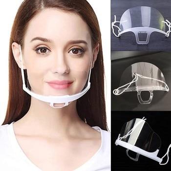 10 PCS Work Wear Men Women Transparent Plastic Mask Chef Kitchen Service Masks Dust Proof Fog Screen half Face Shield 20Jly6