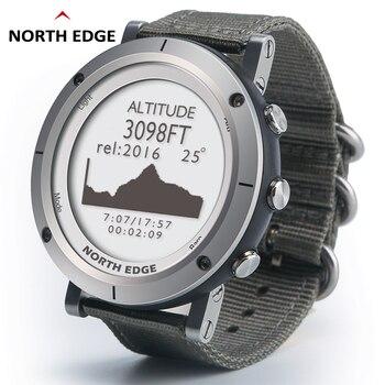 Inteligentne zegarki męskie sportowy zegarek terenowy wodoodporny 50m wędkowanie GPS barometr wysokościomierz termometr kompas wysokość NORTH EDGE
